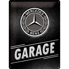metalen wandbord Mercedes-Benz Garage 30x40 cm