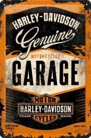 metalen wandplaat harley davidson garage 20-30 cm