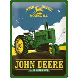 metalen reclamebord John Deere Made With Pride 30x40 cm