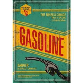 Metal Postcard Gasoline 10-14 cm