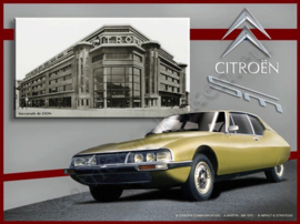 blikken reclamebord Citroen SM geel de Lyon 30-40 cm