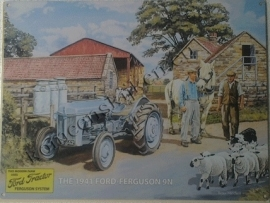 metalen wandbord Ford Fergusson 9n 30-40 cm