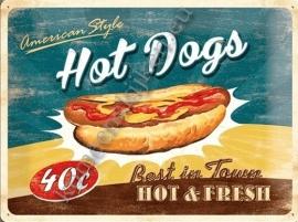 nostalgisch bord hot dogs 30-40 cm