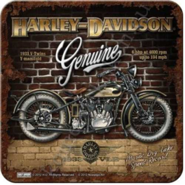 Metal Coaster Harley-Davidson Brick Wall
