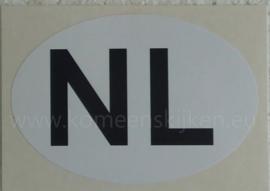 Witte NL sticker 12,3 cm