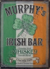 metalen wandbord murphy's irish bar 30-40 cm