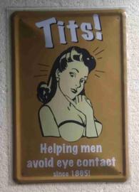 metalen wandplaat Tits! 20x30 cm