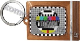 metalen sleutelhanger TV