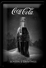 metalen wandplaat Coca Cola flesje 20x30 cm