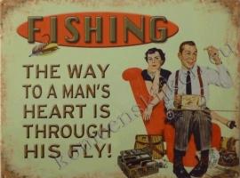 wandplaat man`s hart / fishing 30-40 cm