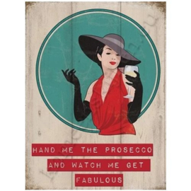 metal wall sign prosecco 30-40 cm