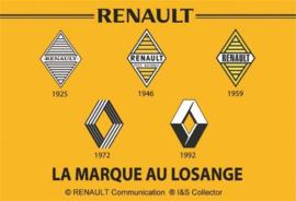 metalen wandbord Renault logo's 20x30 cm