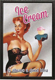 wandspiegel Ice Cream / Pin-up