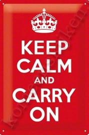 metalen wandplaat keep calm 20-30 cm