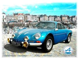 metalen reclamebord Renault Alpine Dieppe 20-30 cm
