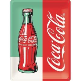 metalen reclamebord Coca-Cola Bottle 30x40 cm