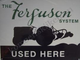 metalen wandplaat Ferguson used here 30x40 cm