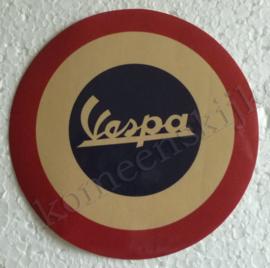 beige mods logo sticker vespa