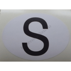 sticker ovaal zweden 9 bij 6,5 cm