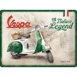 blikken wandbord Vespa The Italian legend