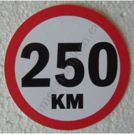 sticker 250 km 7,5 cm