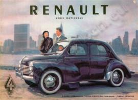 metalen reclamebord Renault 4CV Regie Nationale 30-40 cm