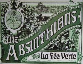 metalen wandplaat the absinthians 30-40 cm