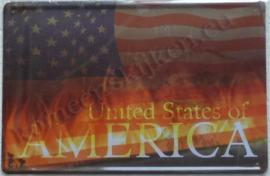 metalen reclamebord united states 20-30 cm