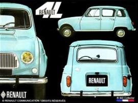 metalen wandplaat Renault 4L 15x20 cm
