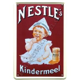 metalen reclamebord Nestle`s kindermeel 20-30 cm