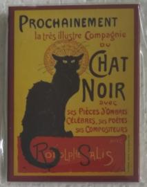 koelkastmagneet chat noir