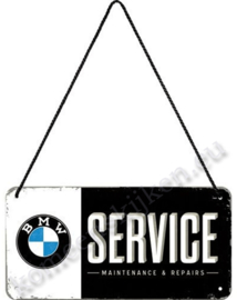 hanging sign bmw service 10x20 cm