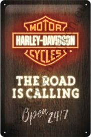 metalen wandbord Harley-Davidson neon style 20x30 cm