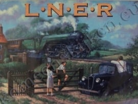metal wall sign trein LNER / horizontaal