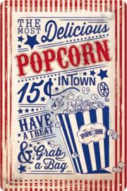 metalen reclamebord popcorn 20-30 cm