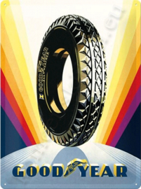 metalen reclamebord goodyear tires rainbow 30-40 cm