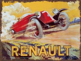 blikken reclamebord renault vitesse aquarelle 30-40 cm