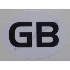 sticker ovaal Great Britain 9 bij 6,5 cm