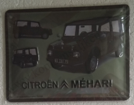 Metalen wandbord Citroen Méhari 15x20 cm