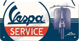 hanging sign / reclamebord Vespa service 10x20 cm