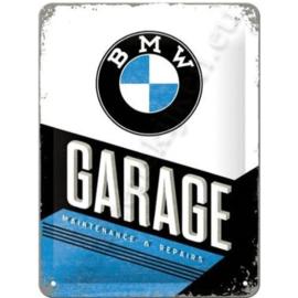 metalen wandplaat bmw garage 30-40 cm