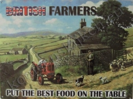 blikken wandplaat british farmers 30-40 cm