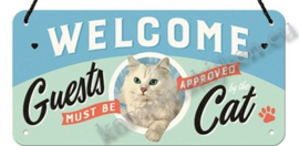 hanging sign welcome cat 10-20 cm NA28027