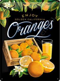 metalen wandplaat oranges 30x40 cm