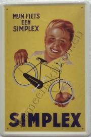 blikken reclamebord simplex 20-30 cm