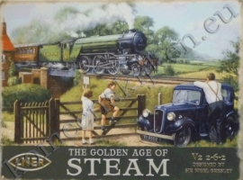 metalen wandplaat golden age of steam 30-40 cm