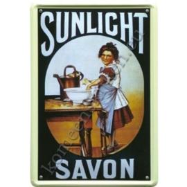 metalen reclamebord Sunlight  savon  20-30 cm