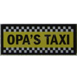 sticker opa`s taxi 11 cm.