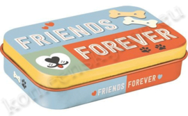 blikken doosje pet Treat Box Friends Forever NA82203