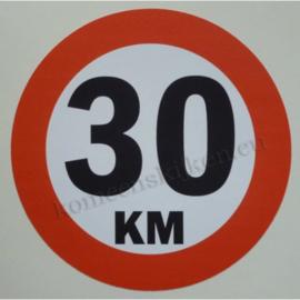 sticker 30 km 14 cm